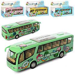 Автобус KS 7103 W (12шт) метал, інер-й, 17,5 см, резін.колеса, открив.двері, 4цв, в кор-ке, 20,5-13-5см