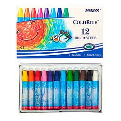 "Пастель масляна 12 кольорів, Bright&Smooth,1100OP-12CB,ТМ"" Marco"""