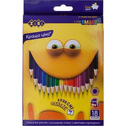 Олівці кольорові 18 кольорів SMART