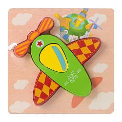 Дерев'яна іграшка Пазли 15X15-1 (48шт) літак, в кульку, 14,5-14,5-1,5см