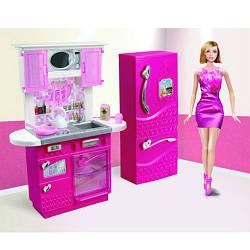 Меблі 3016 (12шт) кухня 26см, плита, мийка, посуд, холодильник, в кор-ке, 32,5-28-8см