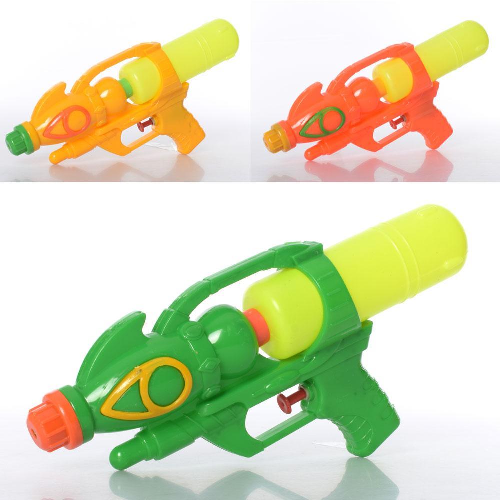 Водяной пистолет MR 0570  размер средний, 24,5см, 3цвета, в кульке, 15-24,5-4см