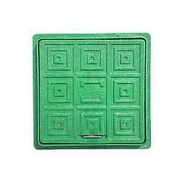Люк-мини 300х300 квадрат (зелёный)