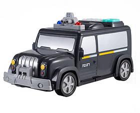 Електронна скарбничка-сейф з кодовим замком і відбитком пальця Машинка - поліцейська