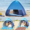 Автоматическая пляжная палатка. Палатка пляжная самораскладывающаяся. 150х165х110 см, фото 7