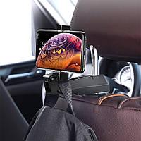 Держатель для телефона на подголовник Baseus Back seat Vehicle Phone Hook black