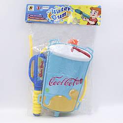 Водяной пистолет с рюкзаком Кола светло голубой водный насос для детей