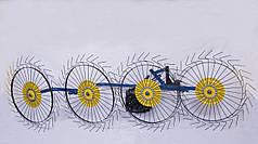 Грабли для мототрактора, мотоблока солнышко на 4 колеса Шип