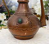 Коллекционный медный восточный кувшин ручной работы, медь, Германия, 24 см, фото 6