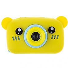 Детский цифровой фотоаппарат Мишка желтый