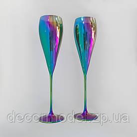 Набор бокалов для шампанского 2 шт Rona Grace 280 мл радуга