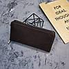 Кожаное портмоне на молнии, клатч мужской, женский, фото 9