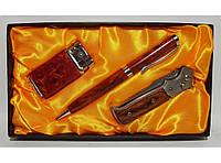 Подарочный набор EGLANTINE: зажигалка+ ручка + нож