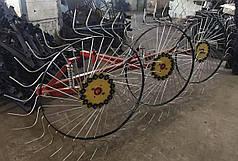 Грабли для мототрактора, мотоблока солнышко на 3 колеса Шип