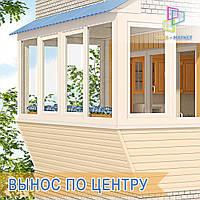 Остекление балконов Киев. Остекление балконов с выносом Киев