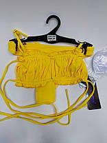 Молодежный купальник со сборкой на лифе Sisianna 31851 желтый на 42 44 46 48 50 размер, фото 3
