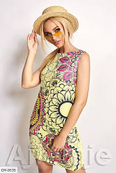 Короткое летнее платье без рукавов, размер 48, 50