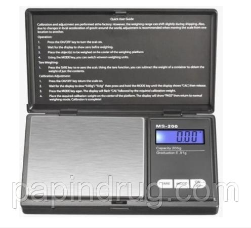 Высокоточные ювелирные весы MS 2020 200g/0.01g электронные весы