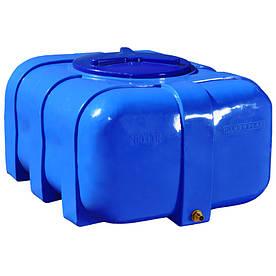 Ємність Рото Європласт для води овальна двошарова 200 л Синя (12)