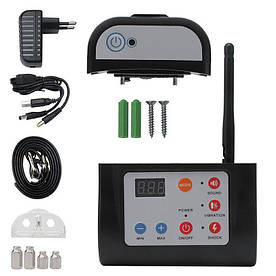 Бездротовий електронний паркан для собак + електронний нашийник для дресирування 2в1 Digital Lion YH883-1