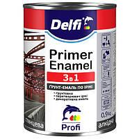 Грунт-эмаль 3 в 1 Delfi серая 0,9 л.