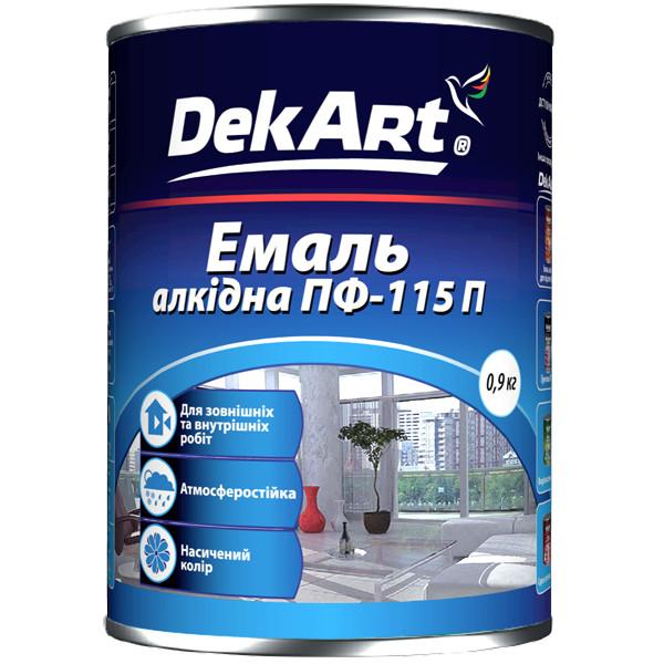 Эмаль алкидная ПФ-115П DekArt вишневая - 0,9 кг