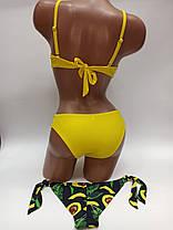 Купальник портупеи двое плавок  Sisianna 50213 желтый на 42 44 46  50 размер, фото 2