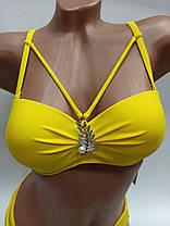 Купальник портупеи двое плавок  Sisianna 50213 желтый на 42 44 46  50 размер, фото 3