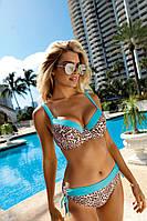 Красивый женский раздельный купальник на большую грудь в 3х цветах Self S 995 LC