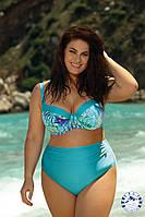Красивый женский раздельный купальник на большую грудь Self S 995 ТА20