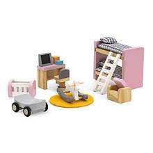 Дерев'яні меблі для ляльок Viga Toys PolarB Дитяча кімната (44036)