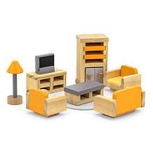 Дерев'яні меблі для ляльок Viga Toys PolarB Вітальня (44037)