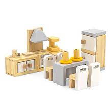 Дерев'яні меблі для ляльок Viga Toys PolarB Кухня і їдальня (44038)