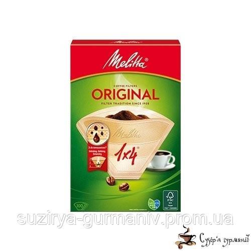 Фильтр для кофе Melitta Original 1х4 40шт бежевый, фото 1