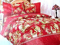 Двуспальное постельное белье Fashion Casa красного  цвета