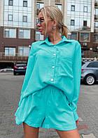 Легкий костюм з шортами та сорочкою 013В / 04, фото 1