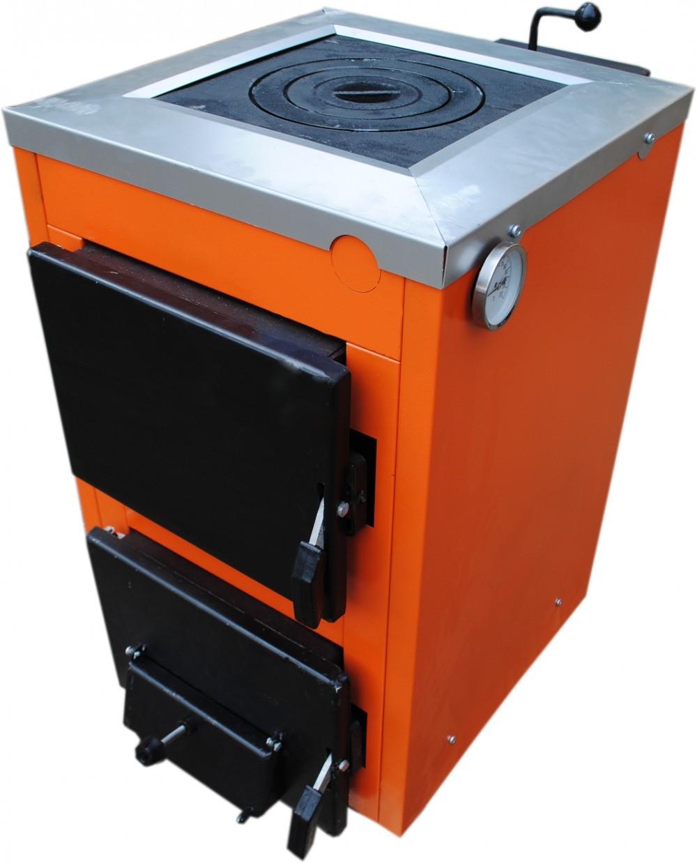 Твердотопливный котел ТермоБар АКТВ-12 с плитой (1 комф.)