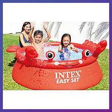 Круглий сімейний надувний басейн Intex 26100 (183х51 см) Crab Easy Set
