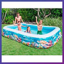 Прямокутний сімейний надувний басейн Intex 58485 (305 x 183 x 56 см) Рибки