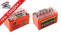 АКБ   12V 7А   гелевый   (150x85x95, оранжевый, с индикатором заряда, вольтметром)   OUTDO