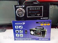 Радио Neeka NK 8925 аккумулятор 220 Вт корпус дерево USB SD