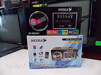 Радио переносное 220 Вт NK 8930 аккумулятор корпус дерево USB SD