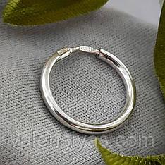 Серебряная серьга кольцо