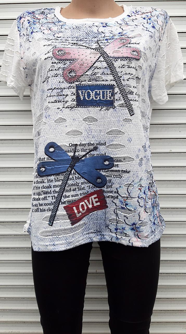 Жіноча футболка рванка L/XL Бабки