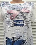 Жіноча футболка рванка L/XL Бабки, фото 4