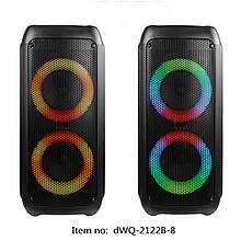 Колонка аккумуляторная DWQ-2122-8 partybox. Колонка с микрофоном