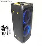 Колонка акумуляторна DWQ-2122-8 partybox. Колонка з мікрофоном, фото 2