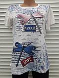 Жіноча футболка рванка L/XL Бабки, фото 6