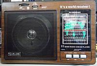 Радио переносное с аккумулятором RX-9966 деревянный корпус