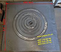 Плита чугунная 600х600 для казана печи, мангал, барбекю, грубу, чугунное литье